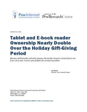 Tablet and E-Book Reader Ownership Nearly Double Over the Holiday Gift-Giving Period