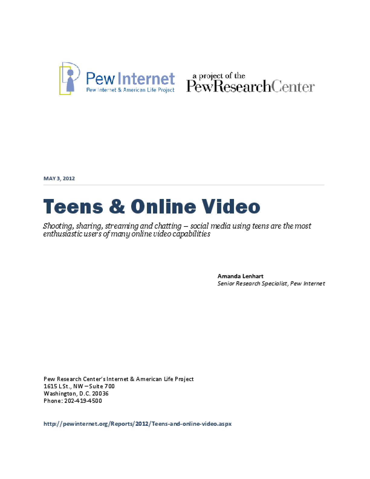 Teens & Online Video