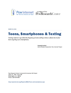 Teens, Smartphones & Texting