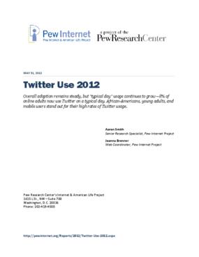 Twitter Use 2012