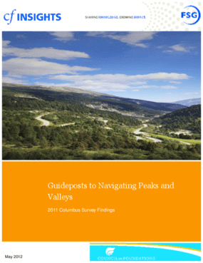2011 Columbus Survey Results: Guideposts for Navigating Peaks and Valleys
