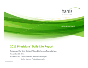 2011 Physicians' Daily Life Report