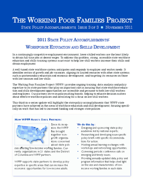 2011 State Policy Accomplishments: Workforce Education and Skills Development