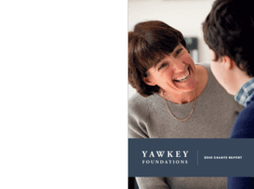 Yawkey Foundations 2010 Grants Report
