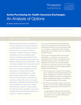 Active Purchasing for Health Insurance Exchanges