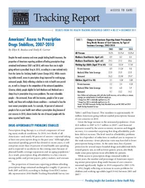 Americans' Access to Prescription Drugs Stabilizes, 2007-2010