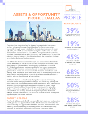Assets & Opportunity Profile: Dallas