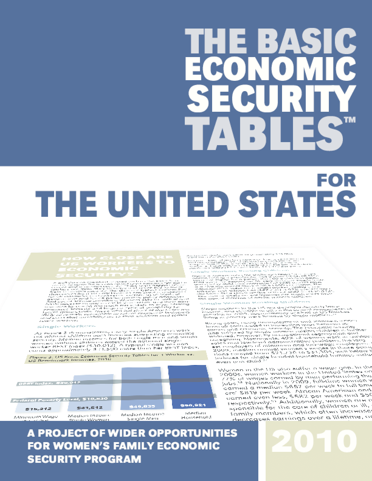 The Basic Economic Security Tables for the United States