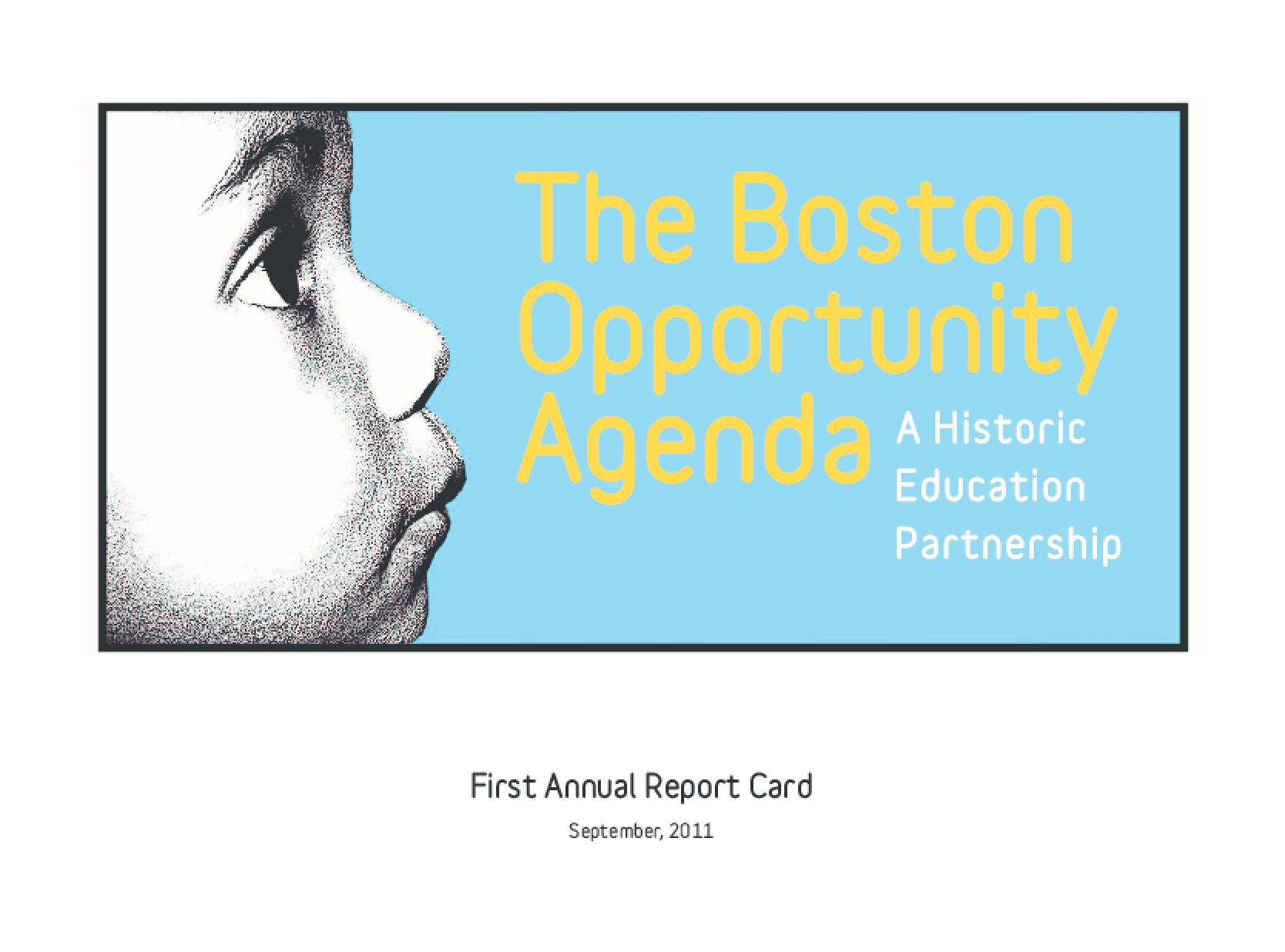 Boston Opportunity Agenda: A Historic Education Partnership, The