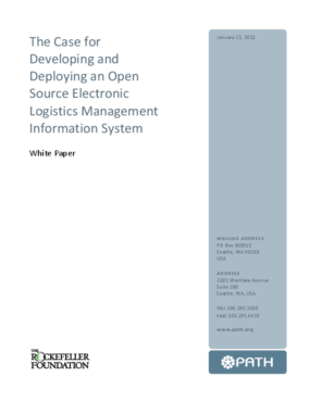 The Case for Developing and Deploying an Open Source Electronic Logistics Management Information System