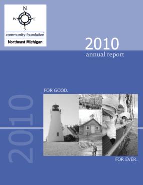 Community Foundation for Northeast Michigan 2010 Annual Report