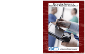 Harnessing Openness to Transform American Health Care