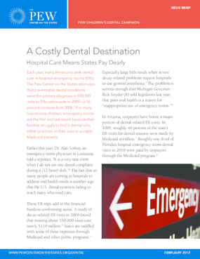 A Costly Dental Destination: Hospital Care Means States Pay Dearly
