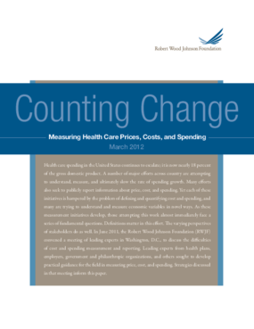 Counting Change: Measuring Health Care Prices, Costs, and Spending
