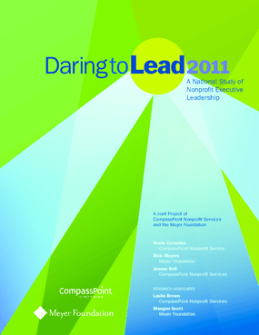 Daring to Lead 2011: A National Study of Nonprofit Executive Leadership