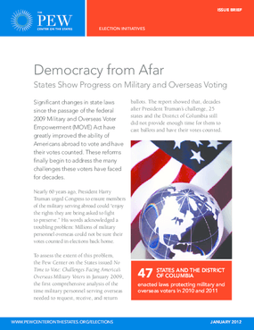 Democracy From Afar: States Show Progress on Military and Overseas Voting