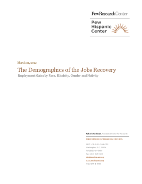The Demographics of the Jobs Recovery: Employment Gains by Race, Ethnicity, Gender and Nativity