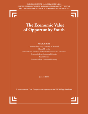The Economic Value of Opportunity Youth