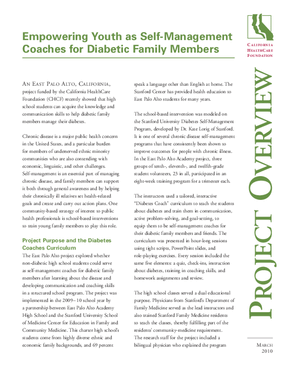 Empowering Youth as Self-Management Coaches for Diabetic Family Members