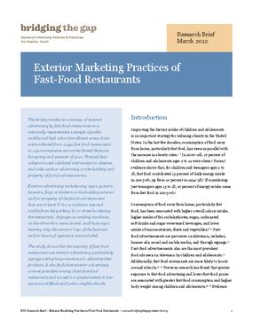 Exterior Marketing Practices of Fast-Food Restaurants