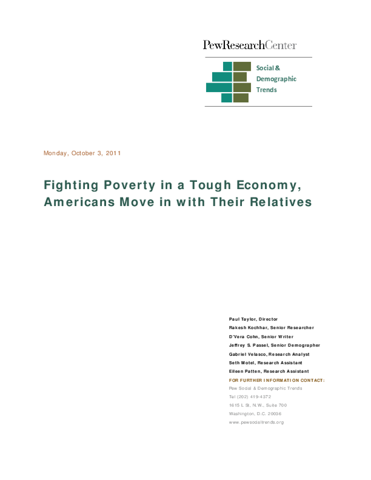Fighting Poverty in a Bad Economy, Americans Move In With Relatives