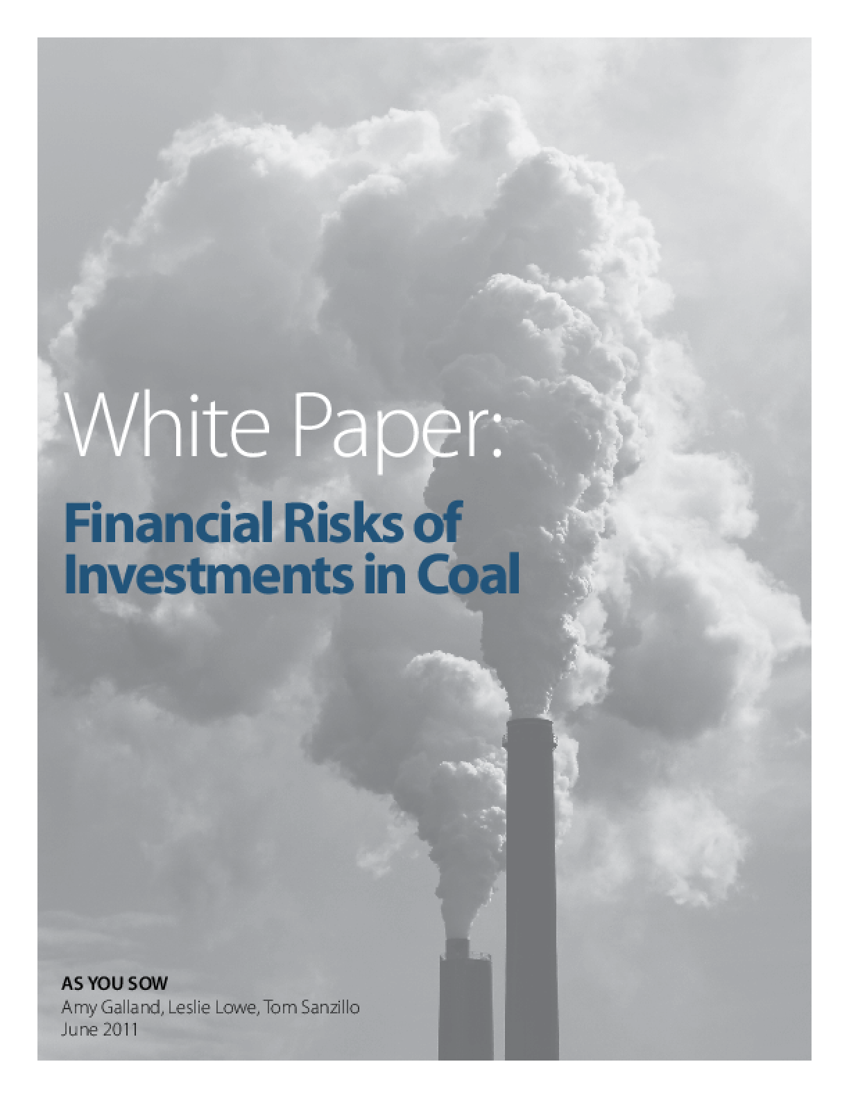 Financial Risks of Investments in Coal