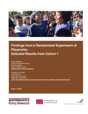 Findings From a Randomized Experiment of Playworks: Selected Results From Cohort 1