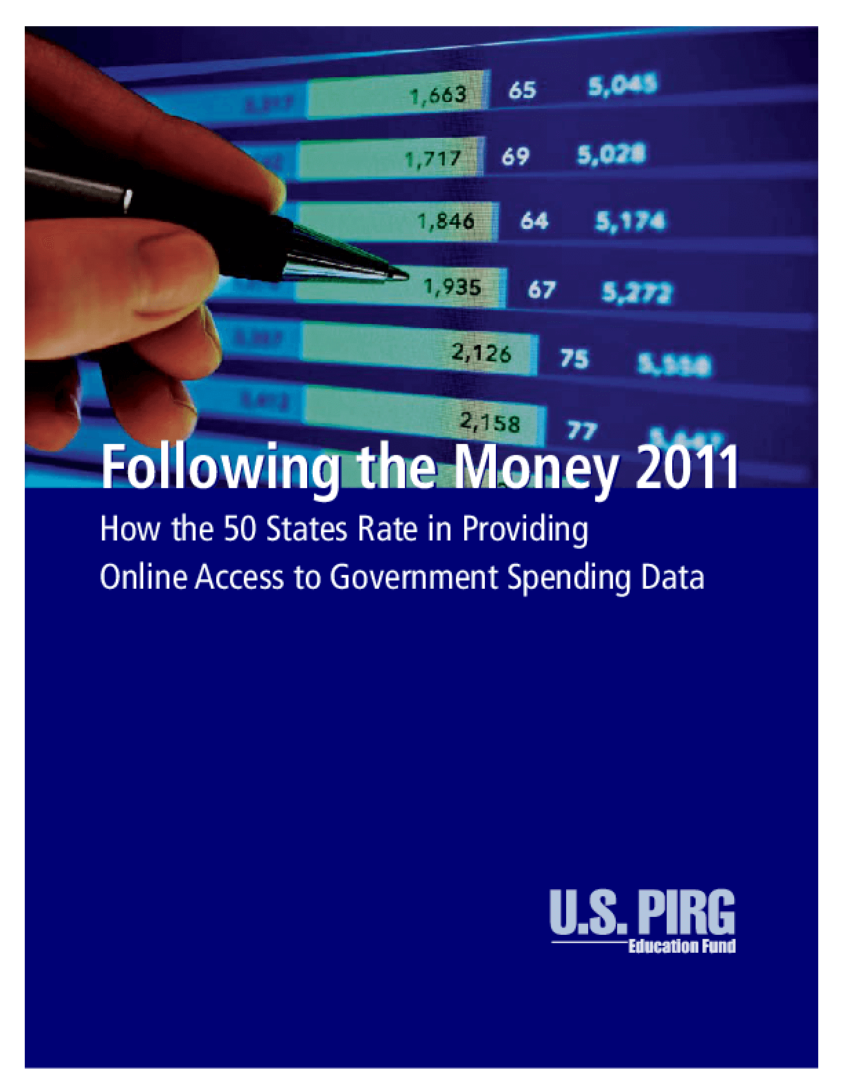Following the Money 2011: How the 50 States Rate in Providing Online Access to Government Spending Data