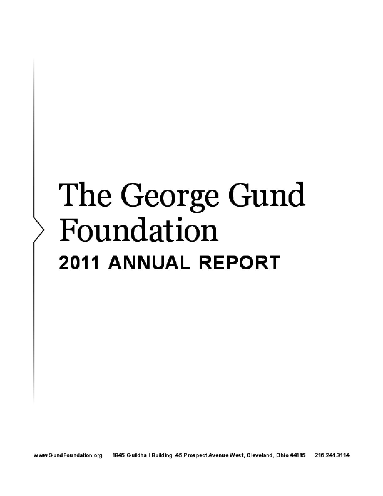 George Gund Foundation 2011 Annual Report