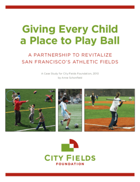 Giving Every Child a Place to Play Ball: A Partnership to Revitalize San Francisco's Athletic Fields