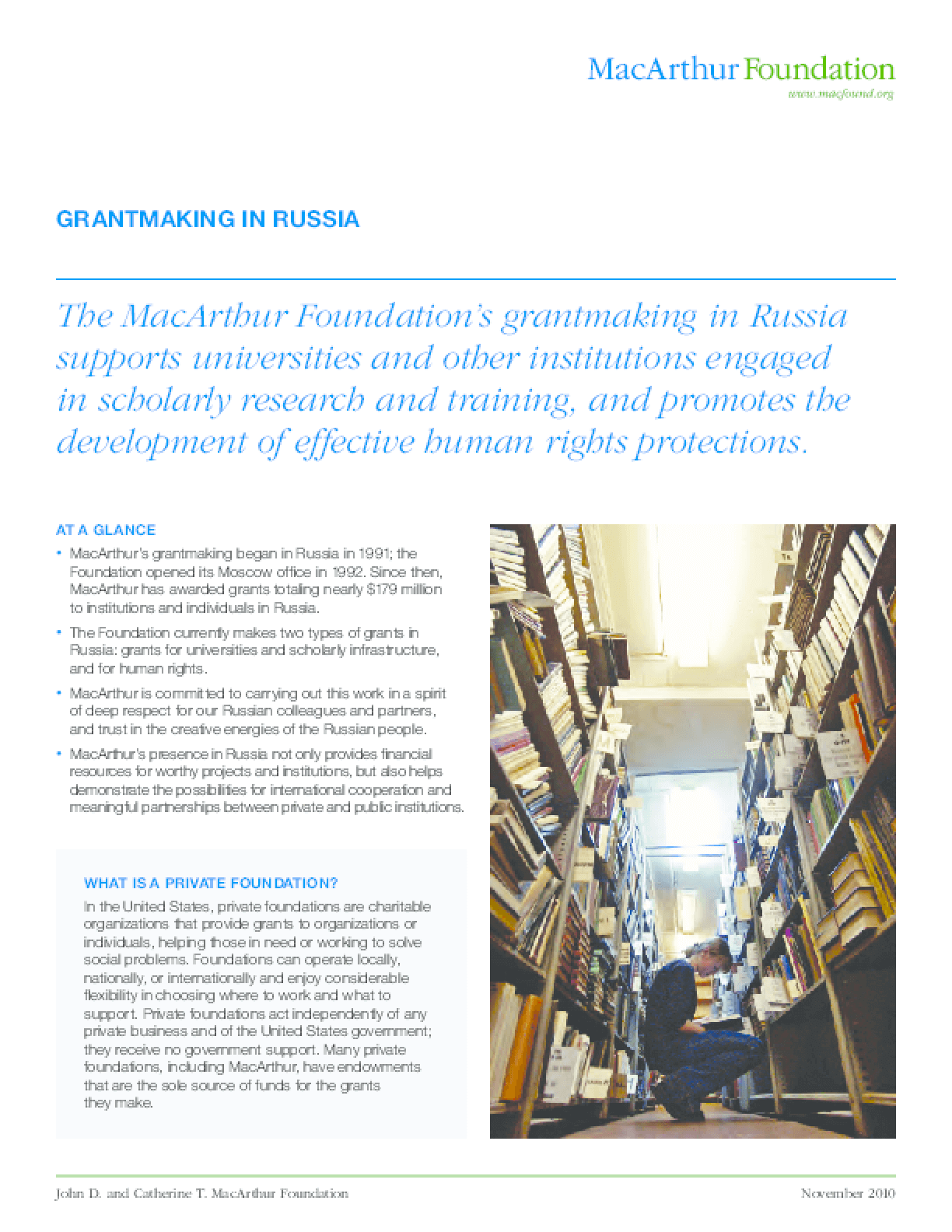 Grantmaking in Russia