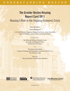 The Greater Boston Housing Report Card 2011: Housing's Role in the Ongoing Economic Crisis