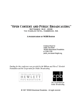 Open Content and Public Broadcasting Conference Report