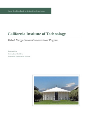 Green Revolving Funds in Action: California Institute of Technology