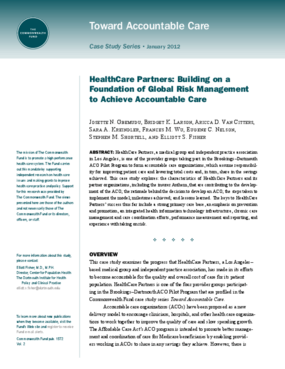 HealthCare Partners: Building on a Foundation of Global Risk Management to Achieve Accountable Care