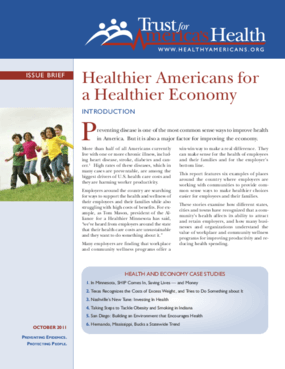 Healthier Americans for a Healthier Economy
