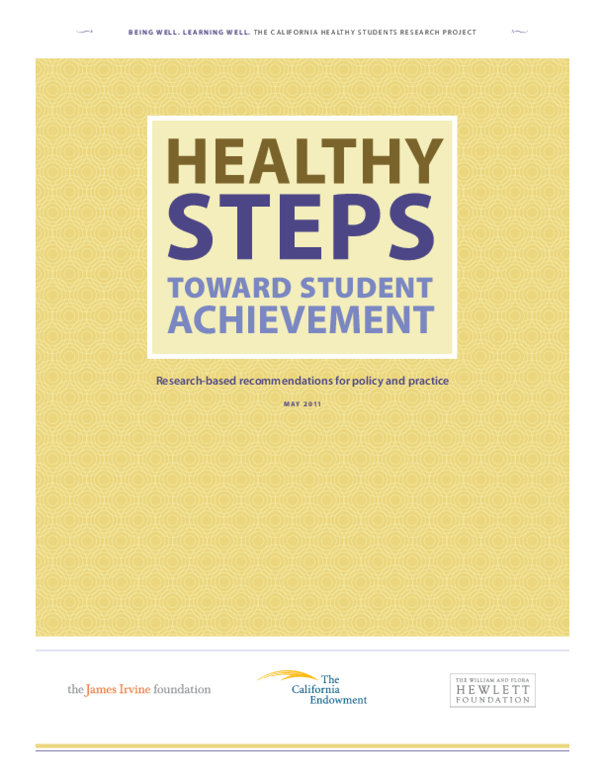 Healthy Steps Toward Student Achievement: Research-Based Recommendations for Policy and Practice