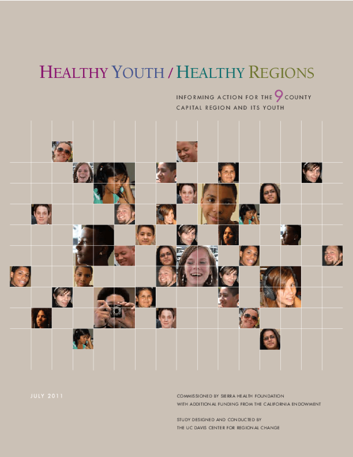 Healthy Youth/Healthy Regions: Informing Action for the 9 County Capital Region and Its Youth