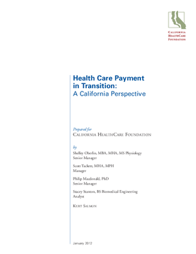 Health Care Payment in Transition: A California Perspective