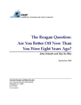 The Reagan Question: Are You Better Off Now Than You Were Eight Years Ago?