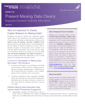 How to Present Missing Data Clearly: Engaging Consumers in Quality Information