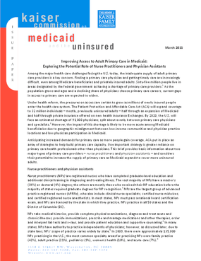 Improving Access to Adult Primary Care in Medicaid: Exploring the Potential Role of Nurse Practitioners and Physician Assistants