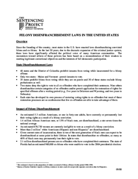 Felony Disenfranchisement Laws in the United States