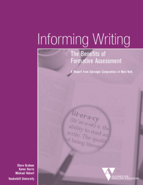 Informing Writing: The Benefits of Formative Assessment