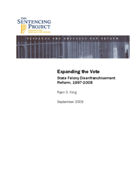 Expanding the Vote: State Felony Disenfranchisement Reform, 1997- 2008