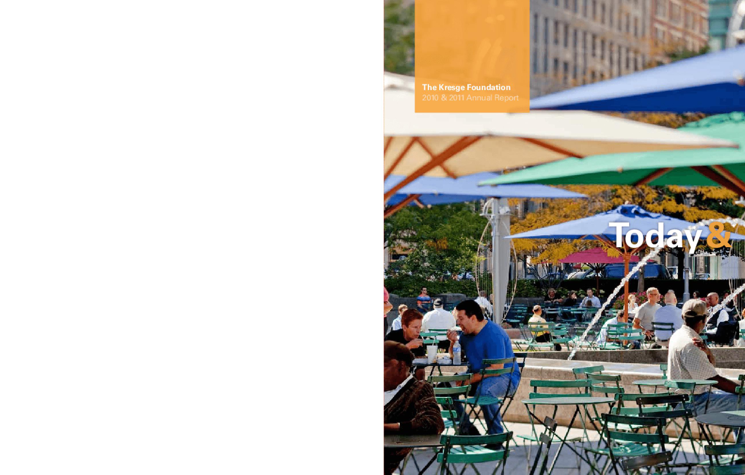 Kresge Foundation 2010-2011 Annual Report