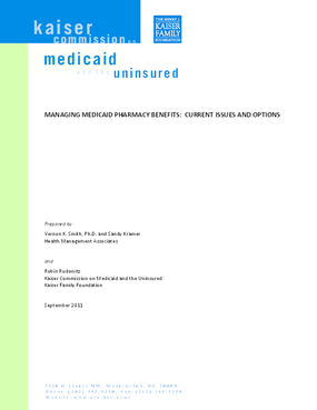 Managing Medicaid Pharmacy Benefits: Current Issues and Options