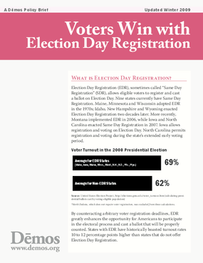 Voters Win with Election Day Registration
