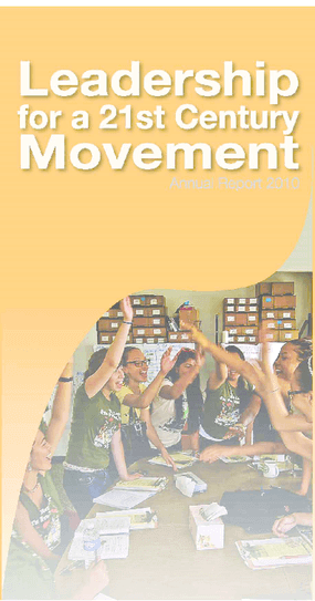 Marguerite Casey Foundation 2010 Annual Report: Leadership for a 21st Century Movement