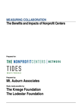 Measuring Collaboration: The Benefits and Impacts of Nonprofit Centers